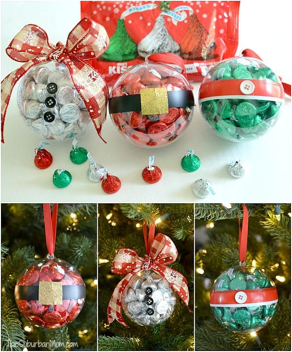 DIY Hershey Kiss Christmas Ornaments - DIY Ornaments For Kids