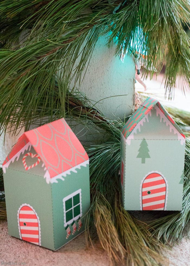 Free Printable Elf House Treat Box