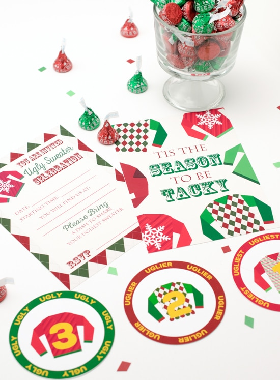Free Ugly Sweater Party Invitations and Medals - 16 Totally Unforgettable Ugly Sweater Party Ideas