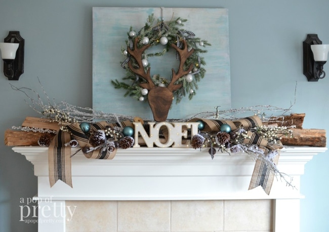 French-Inspired Christmas Mantel