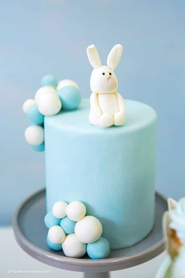 Boy's Hot Air Balloon First Birthday Party Cake