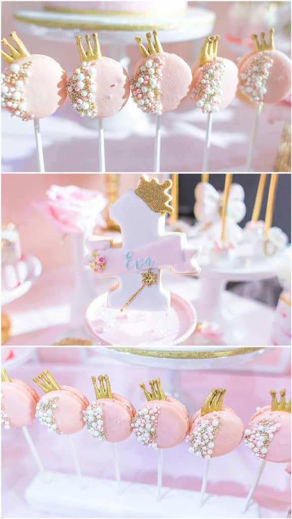 Pink and Gold Princess Birthday Party Food