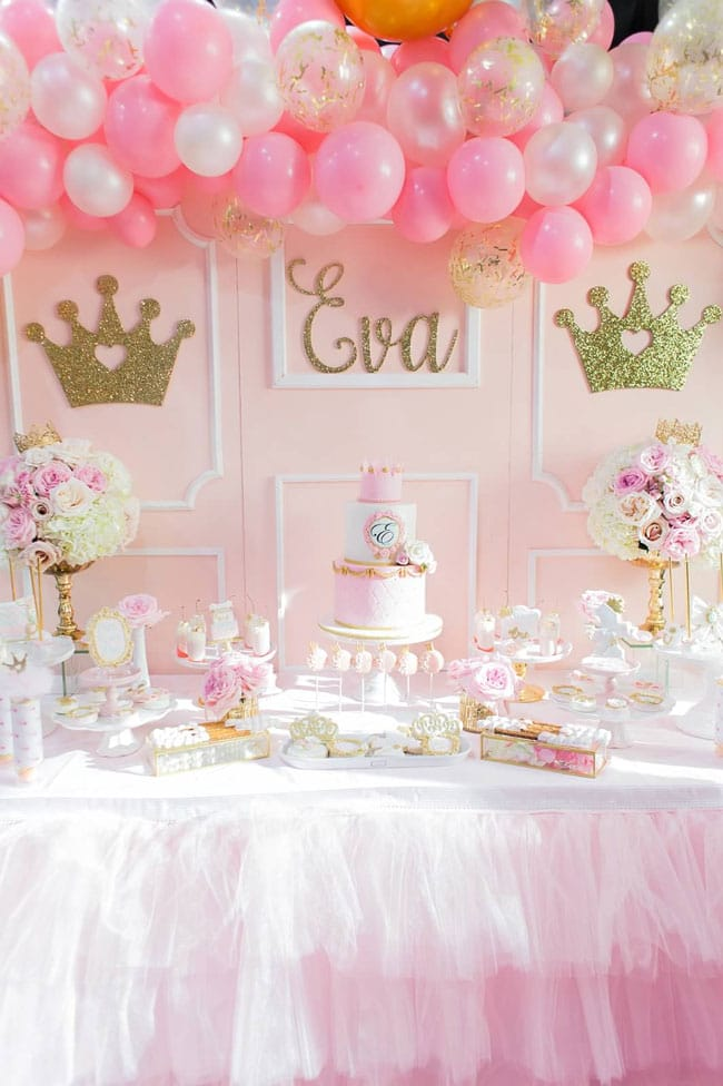 5a764b3f1cb Pink and Gold Princess Birthday Party - Pretty My Party