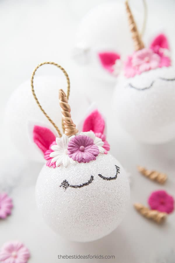 DIY Unicorn Christmas Ornament For Kids