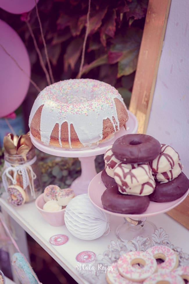 Vintage Donut Birthday Party Cake