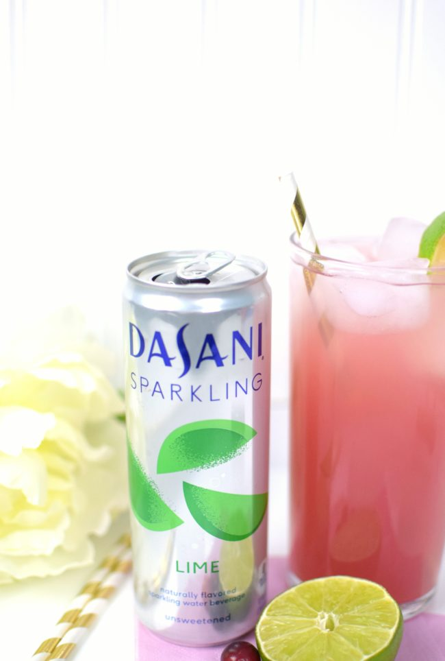 Cran-Lime Cocktail - 3 Party Perfect Dasani Sparkling Drink Recipes