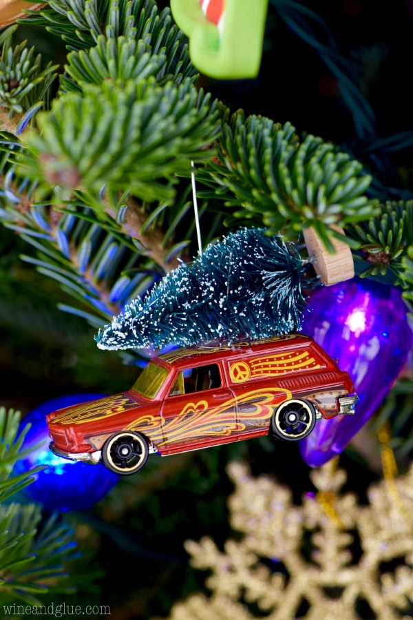 DIY Matchbox Car Ornaments