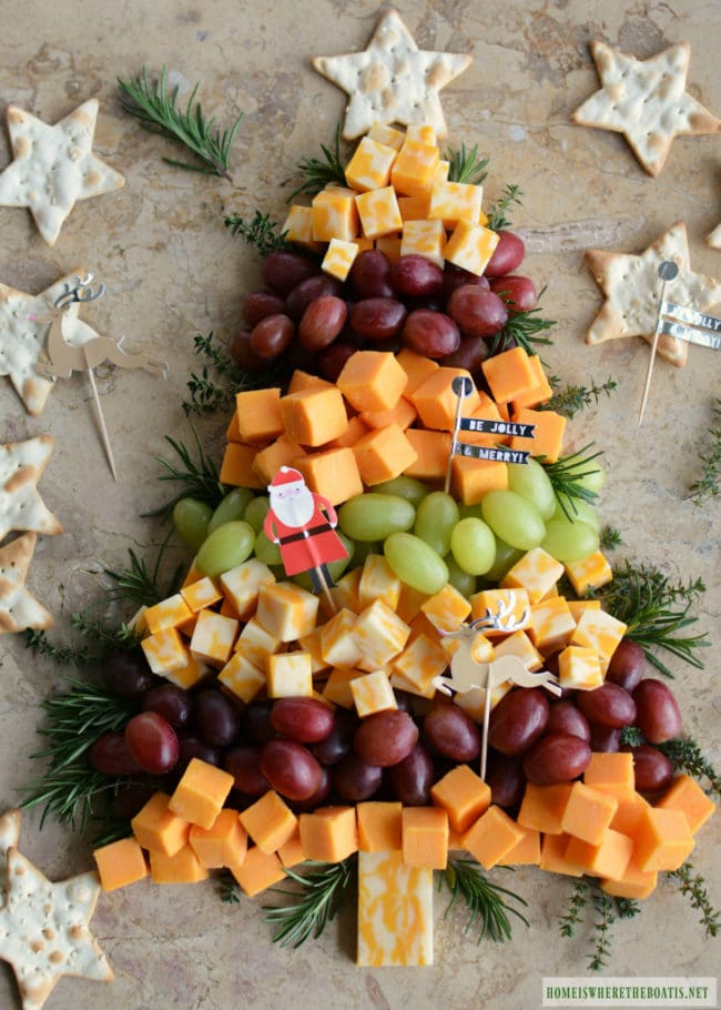 Christmas Tree Cheese Board Appetizer