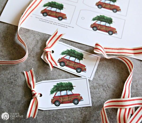 Free Holiday Gift Tag Printables