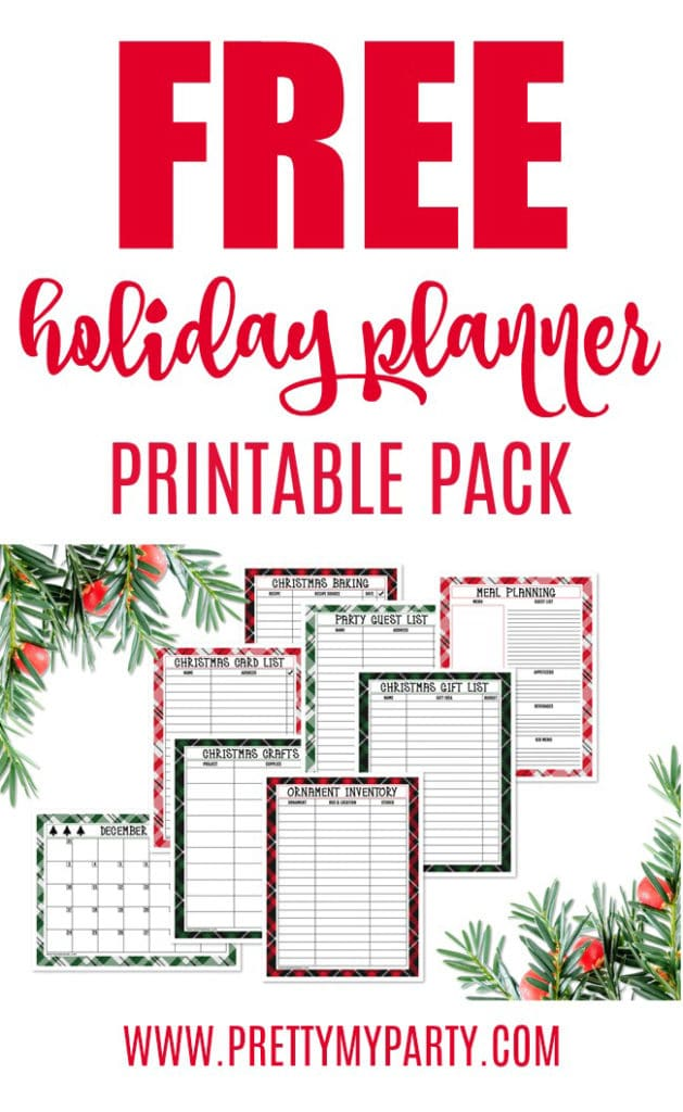 Free Holiday Planner Printable Pack For An Organized Christmas on Pretty My Party