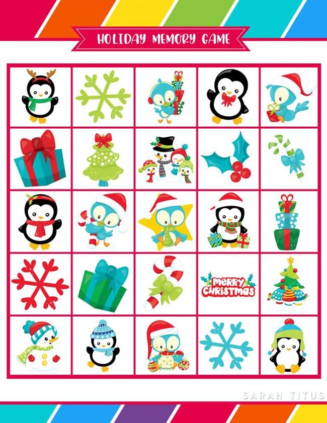 Free Printable Holiday Games