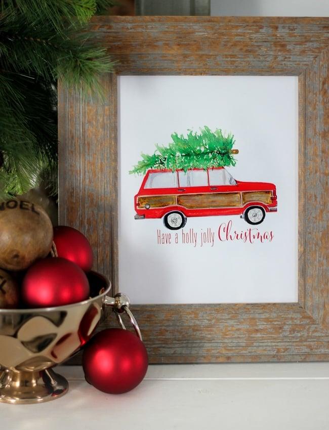 Free Holly Jolly Christmas Printable