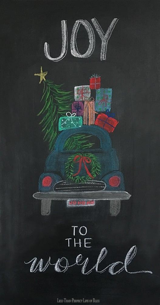 Free Joy Chalkboard Art Printable
