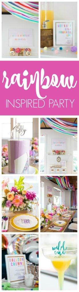 Fabulous Lisa Frank Inspired Rainbow Birthday Party