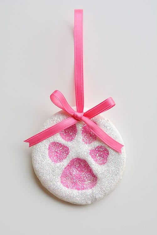 Paw Print Salt Dough Ornament