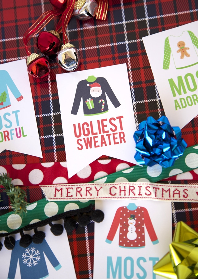 Free Ugly Sweater Award Printables - 16 Totally Unforgettable Ugly Sweater Party Ideas