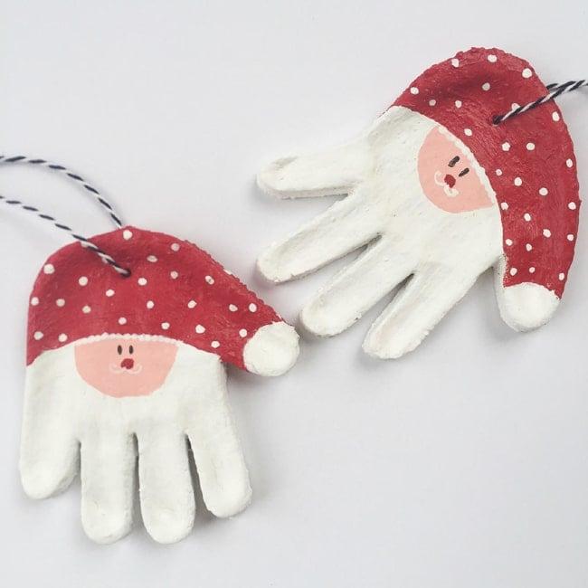 Santa salt dough ornament - Christmas Salt Dough Keepsake Ornament Ideas