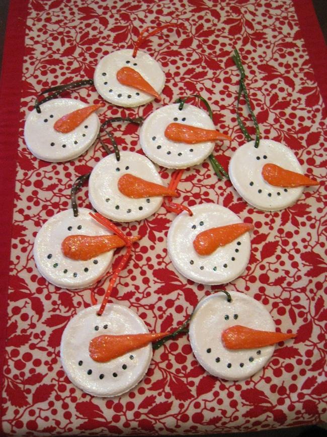 Snowman Salt Dough Ornaments