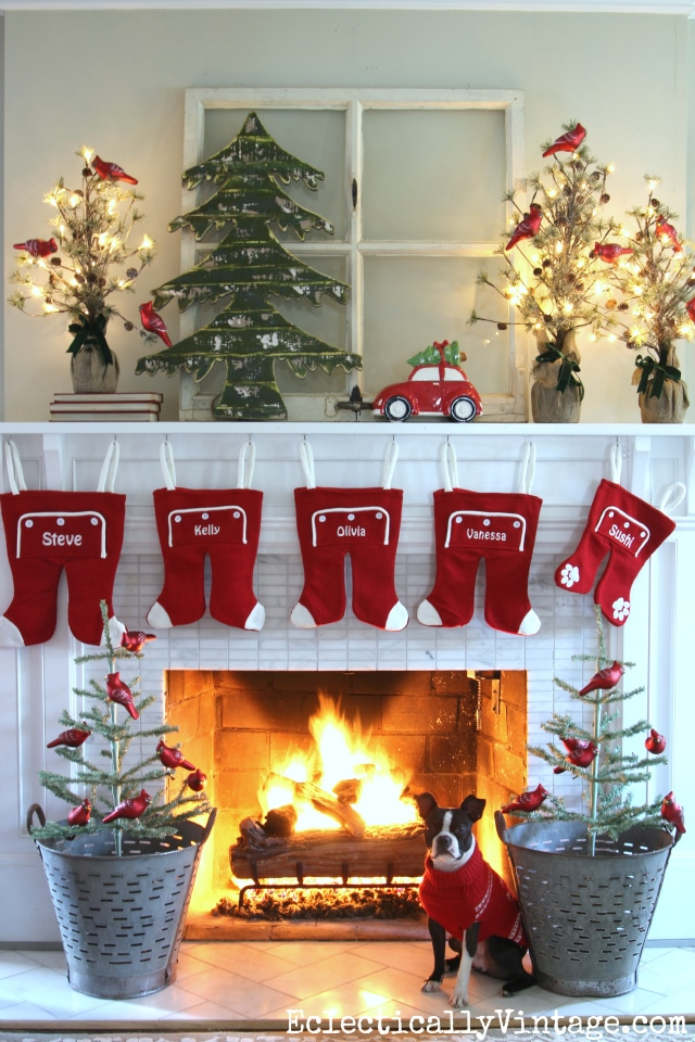 Whimsical Christmas Fireplace Decor