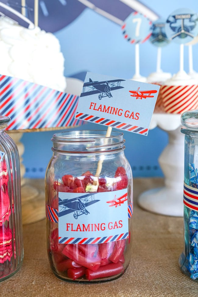 Vintage Airplane Birthday Party Desserts