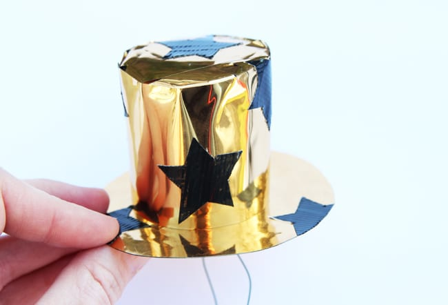DIY New Year's Eve Mini Top Hats | Pretty My Party