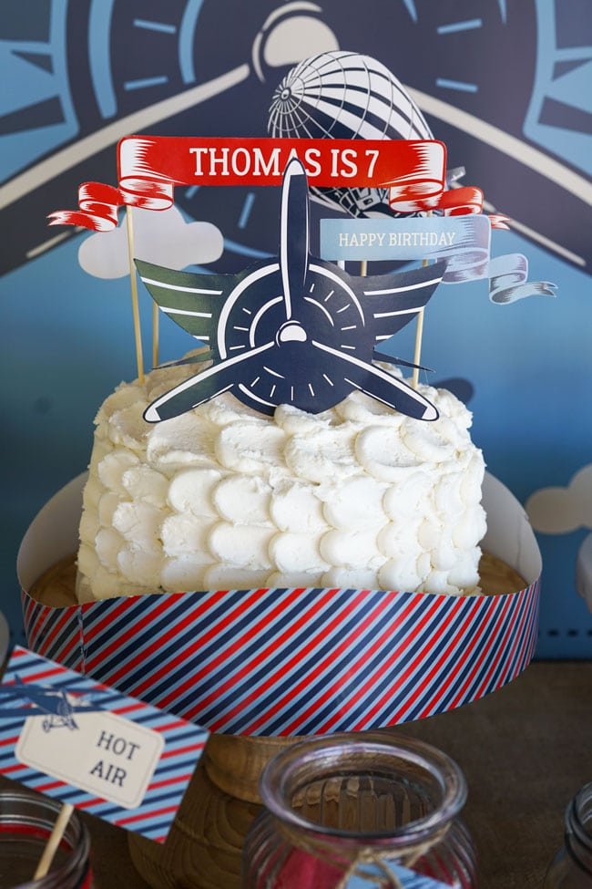 Vintage Airplane Birthday Cake