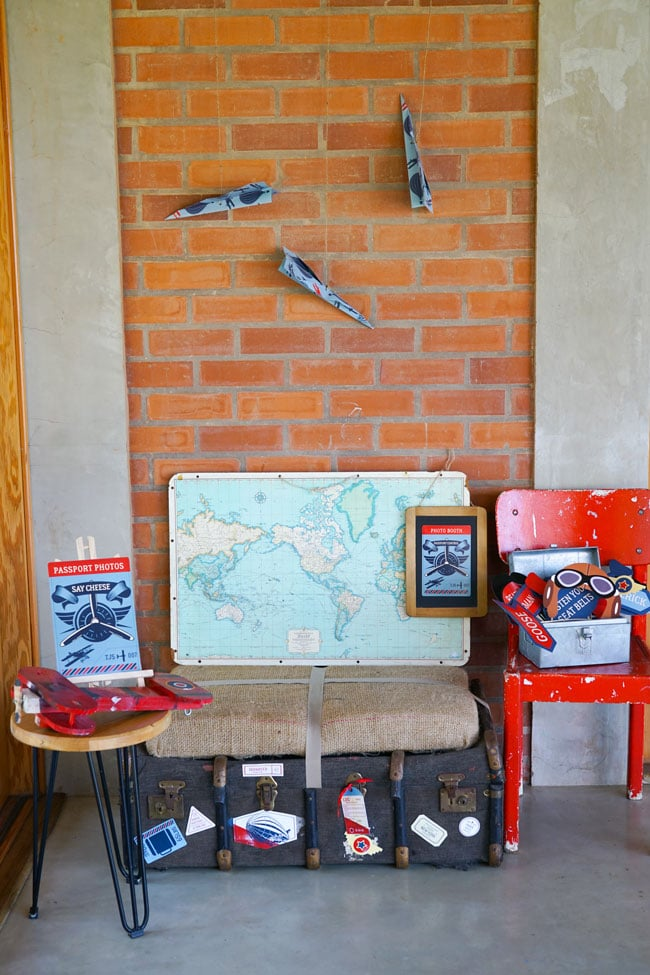 Vintage Airplane Birthday Party Photo Booth