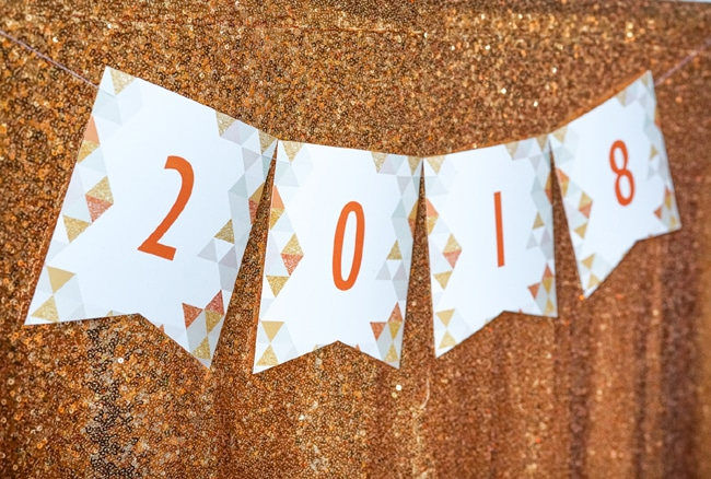Quick and Easy New Years Party Setup party banner featured on Pretty My Party