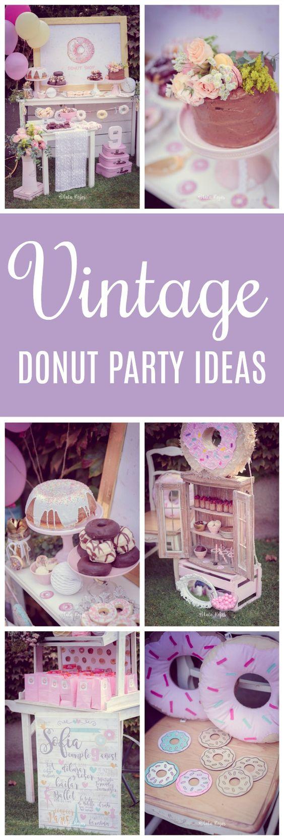 Vintage Donut Birthday Party - Pretty My Party