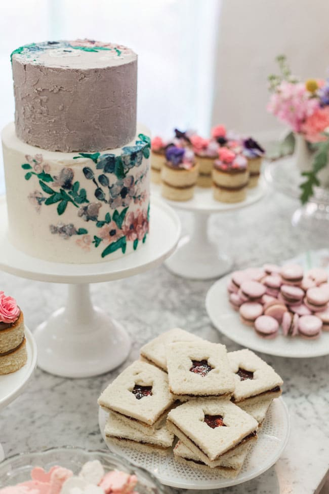 Boho Inspired Winter Wonderland Party Food
