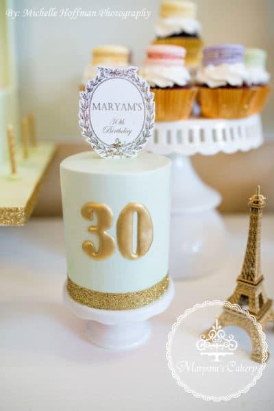 Parisian Tea Party 30th Birthday