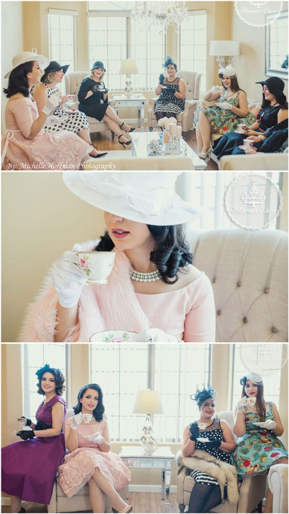 Parisian tea party outfits and hats