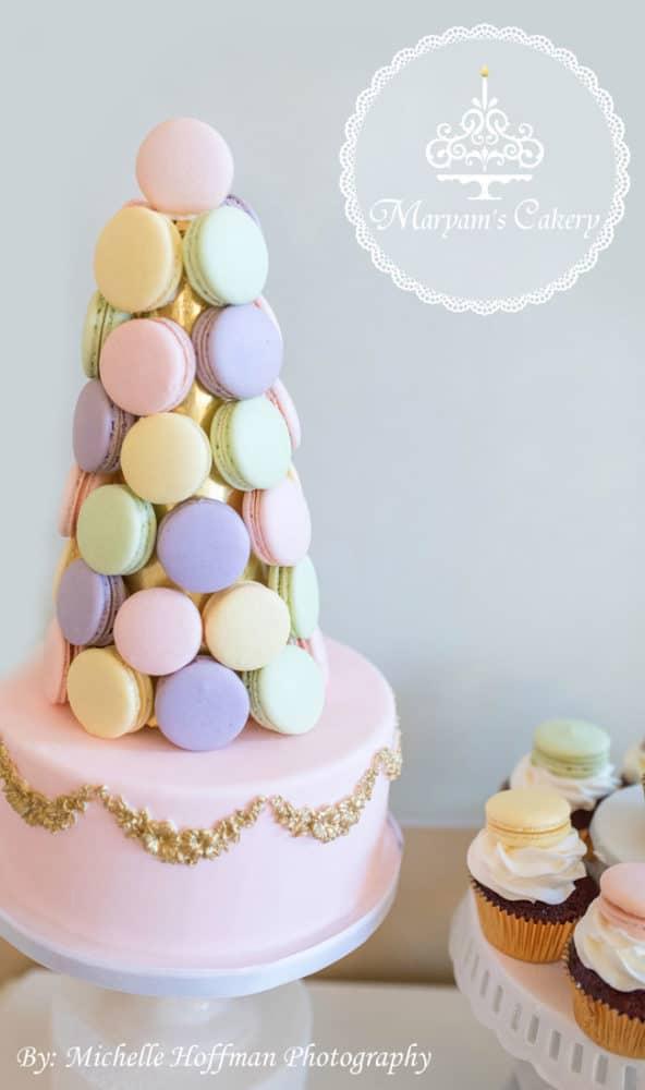 Parisian Tea Party 30th Birthday Macarons
