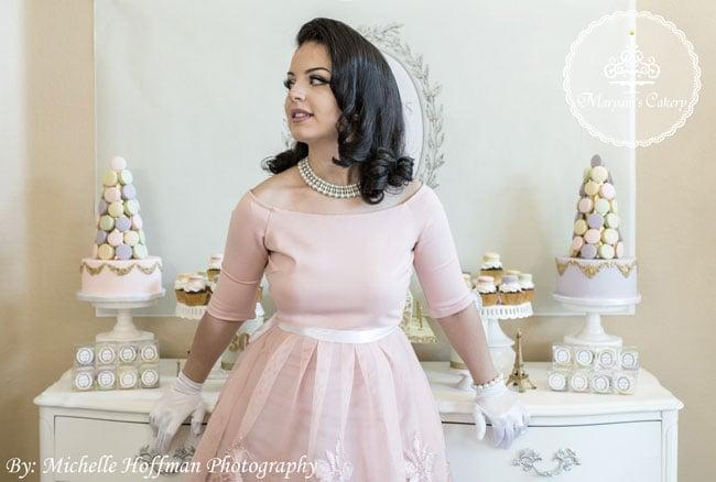 Pink Parisian tea party dress
