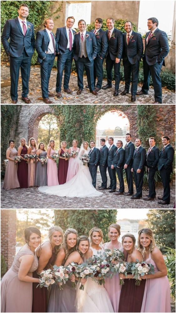 Fall Wedding Bridal Party Ideas