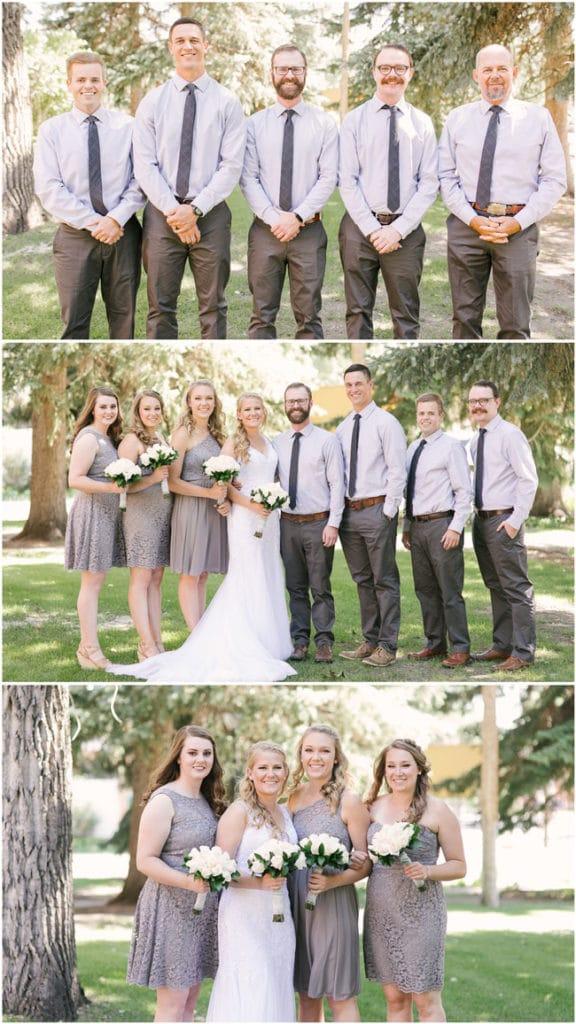 garden wedding party
