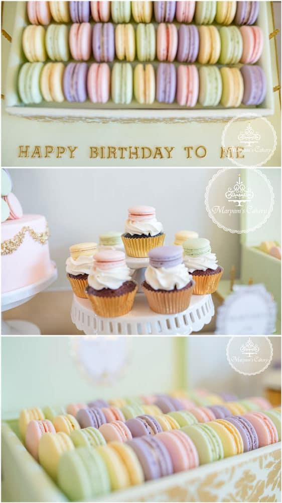 Parisian Tea Party Birthday Desserts