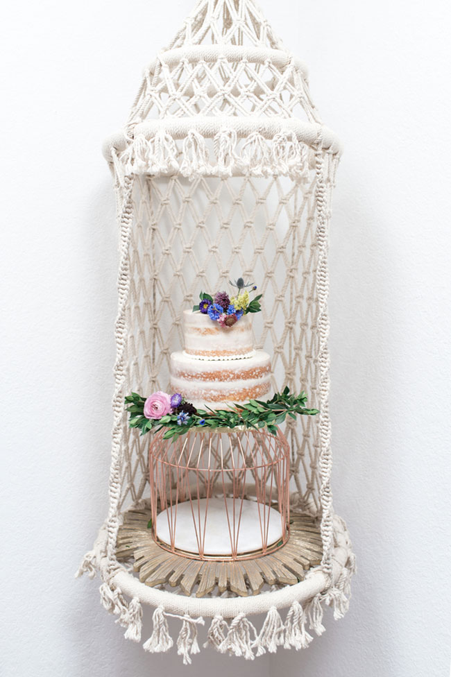 Boho Sweet Sixteen Birthday Cake