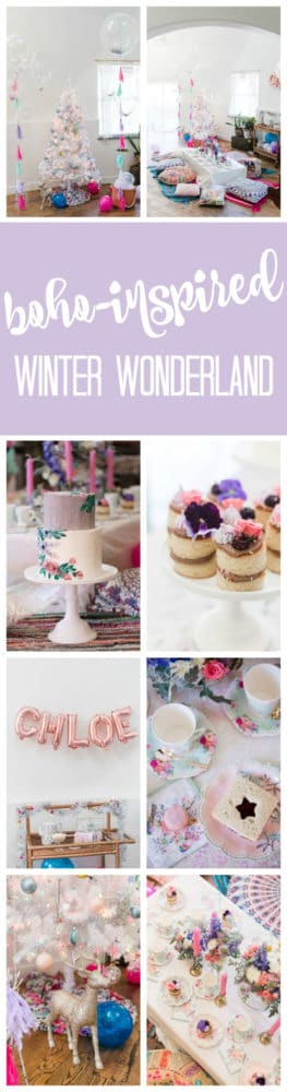 Boho Inspired Winter Wonderland Party on Pretty My Party