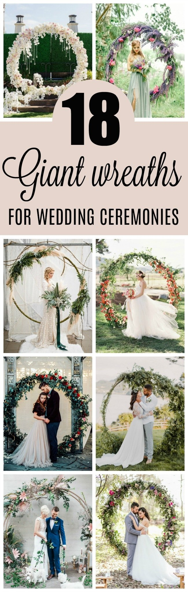 18 Circular Wedding Arch Ideas - Pretty My Party