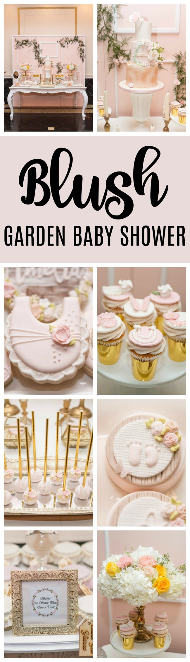 Blush Garden Themed Baby Shower - Pretty My Party