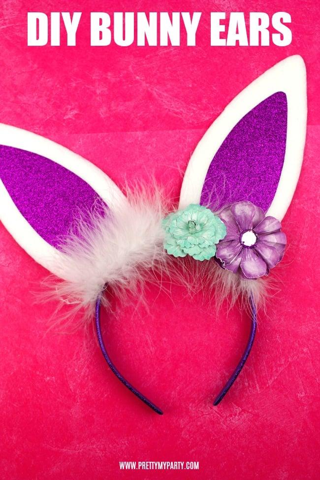 DIY Bunny Ears Headband on Pretty My Party