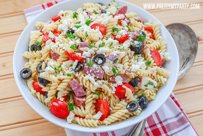 Easy Classic Italian Pasta Salad from Pretty My Party