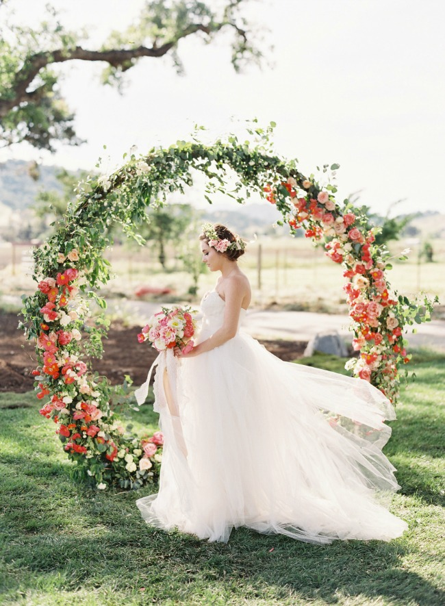 Giant floral wedding wreath