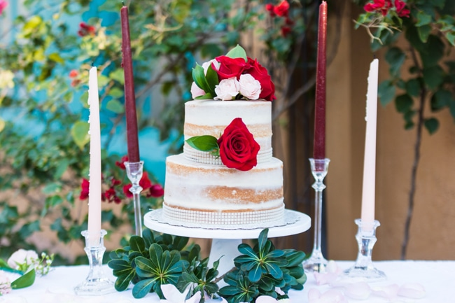 Garden Wedding Cake With Flowers