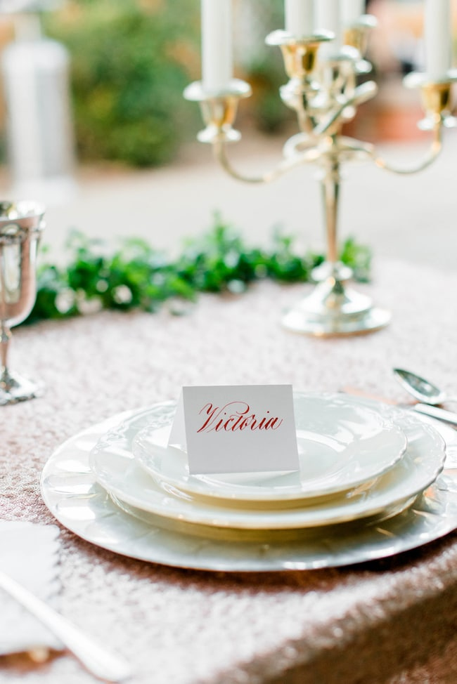Garden Wedding Table Name Sign