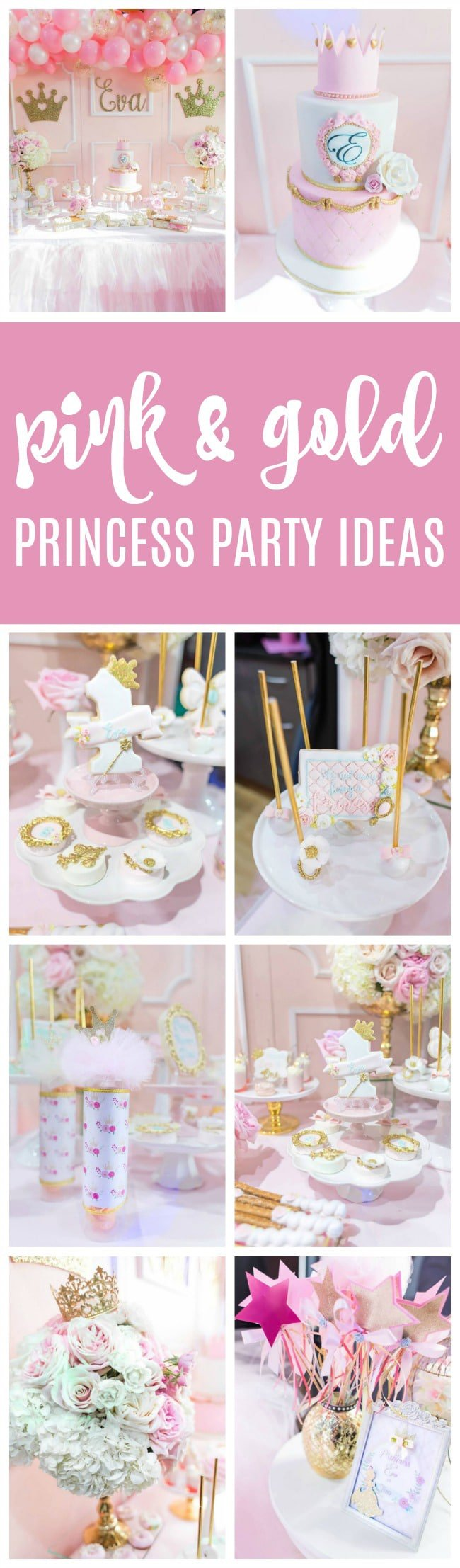 Pink and Gold Princess Party - Pretty My Party