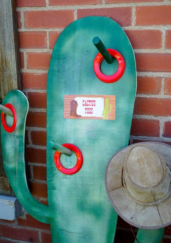 Cowboy Party Game - Cactus Toss