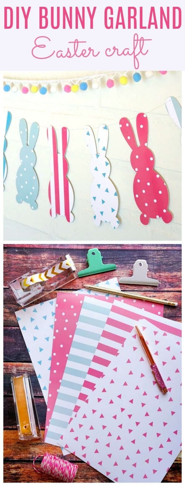 DIY Easter Bunny Garland - Pretty My Party