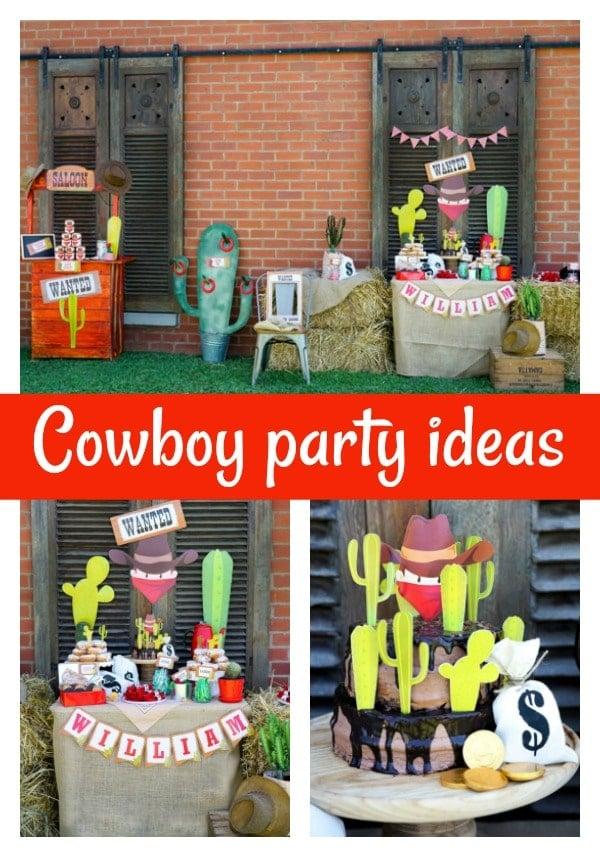 Wild West Cowboy Themed Birthday Party - Pretty My Party
